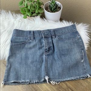 GAP Denim Fringed Mini Skirt